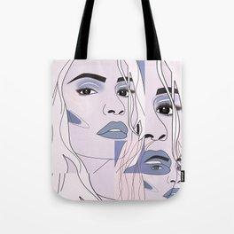 lip filler collage Tote Bag