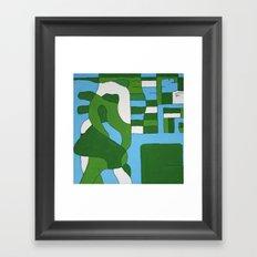 Green Map Framed Art Print