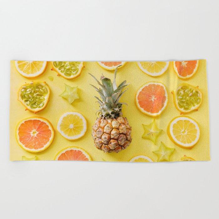 Citrus Party Beach Towel