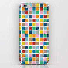 Colour Block Outline iPhone Skin