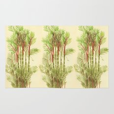 Palmier Rouge - Red Palmtree Rug