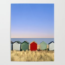 Beach Huts at Southwold (Suffolk/Great Britain) Poster