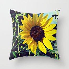 Sunflower Single Throw Pillow