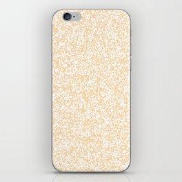 Tiny Spots - White and Sunset Orange iPhone Skin