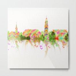 Colorful Harvard University Skyline Metal Print