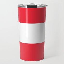 Flag of  Austria - High quality HD authentic version Travel Mug