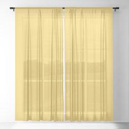 Flamboyant Rose ~ Butter Yellow Sheer Curtain