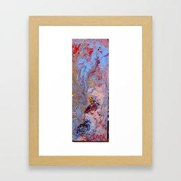 detail acrylic painting Framed Art Print
