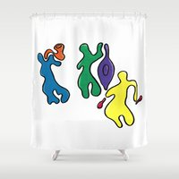 jazz Shower Curtains featuring Jazz by Shelly Lukas Art