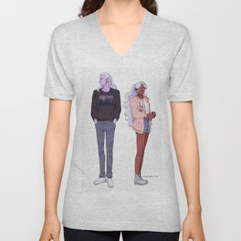 Allura and Lotor Unisex V-Neck