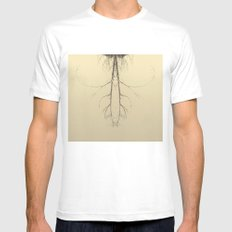 branches#05 MEDIUM White Mens Fitted Tee