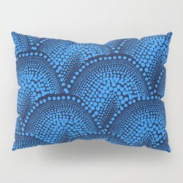 Many Blue Dots (Black Background) Pillow Sham