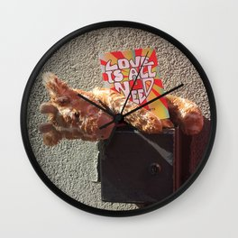 Lost Toy (needs love) Wall Clock