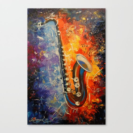 Melody saxophone Canvas Print