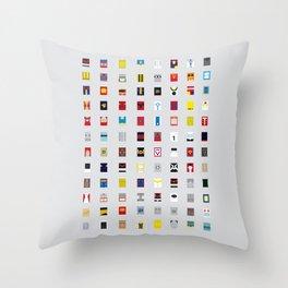 Minimalism robots (Good natured / Defenders) Throw Pillow