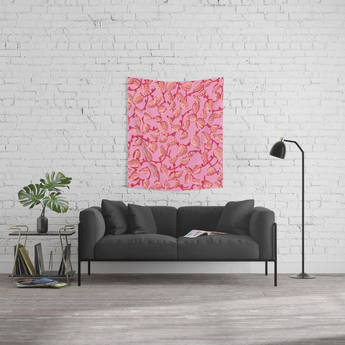 Strawberry nonsense Wall Tapestry