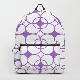 Abstract pattern - purple and white. Backpack