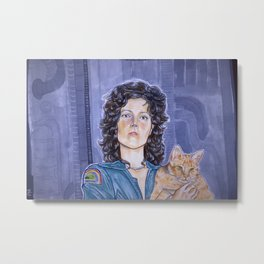 In Space No One Can Hear Your Cat Metal Print