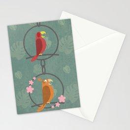 Tiki Birds Dark Stationery Cards