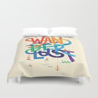 wanderlust Duvet Covers featuring Wanderlust by Wharton