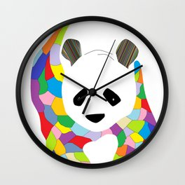 Patchwork Panda Wall Clock