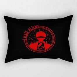 i hate alien Rectangular Pillow
