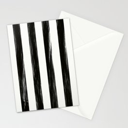 Strong Black Painted Stripes Stationery Cards