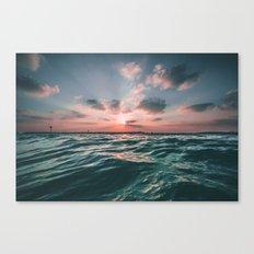 Deep Green Float Canvas Print