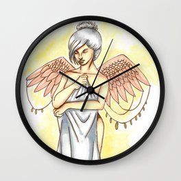 Young angel Wall Clock
