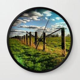buffalo farm Wall Clock