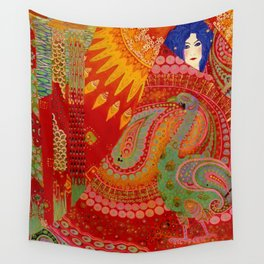 Salome (Floral Garden Landscape) 1918 aladdin tapestry by Vittorio Zecchin Wall Tapestry