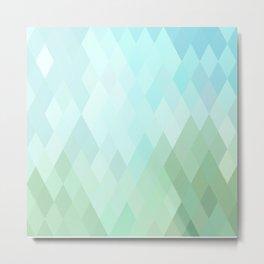 Shades of  Blue Diamonds Abstract Metal Print