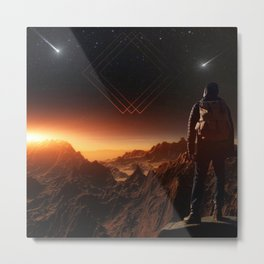 Lost on Mars Metal Print