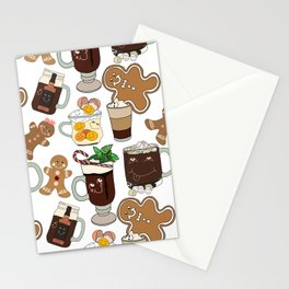 Holiday Drinks Stationery Cards