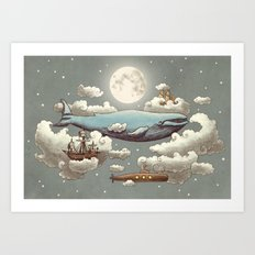 Ocean Meets Sky (original) Art Print