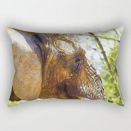 Portrait of an Elephant Rectangular Pillow
