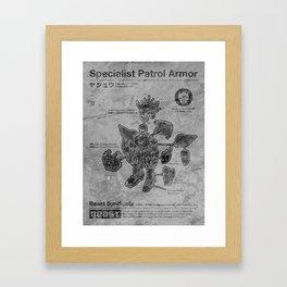 Specialist Patrol Armor (Stone) Framed Art Print