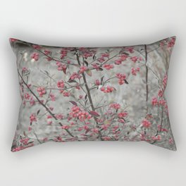 Red Wild Berries in Oakland Rectangular Pillow