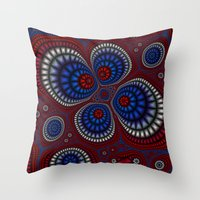 paisley Throw Pillows featuring Paisley by Christy Leigh