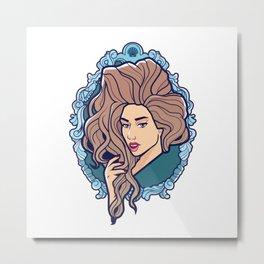 Venus, Seashell Girl Metal Print