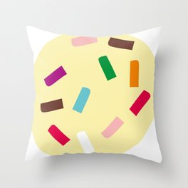 Three scoops Throw Pillow