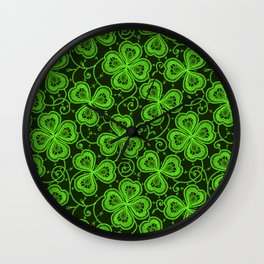 Clover Lace Pattern Wall Clock