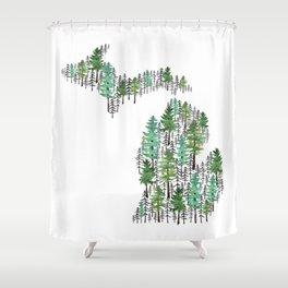 Michigan Forest Shower Curtain