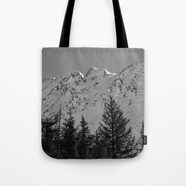 Gwin's Winter Vista - B & W Tote Bag