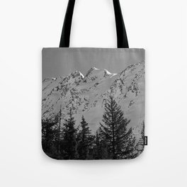 Gwin's Winter Vista - B & W Tote Bag