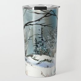 Winter Fields, from my watercolor painting Travel Mug