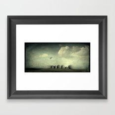 Silos of the Prairies Framed Art Print