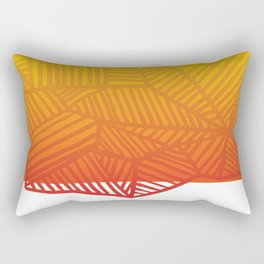 Angled lines - Pattern - Ombre Rectangular Pillow