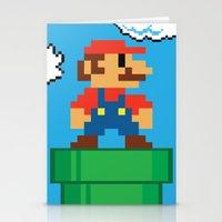 mario bros Stationery Cards featuring Mario Bros by WaXaVeJu
