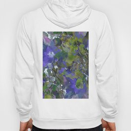 Violet Water Blossoms Hoody